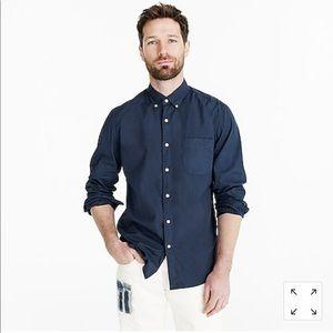 New J crew blue Stretch Secret Wash shirt poplin L